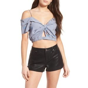 ASTR the Label Floral Clementine Crop Top